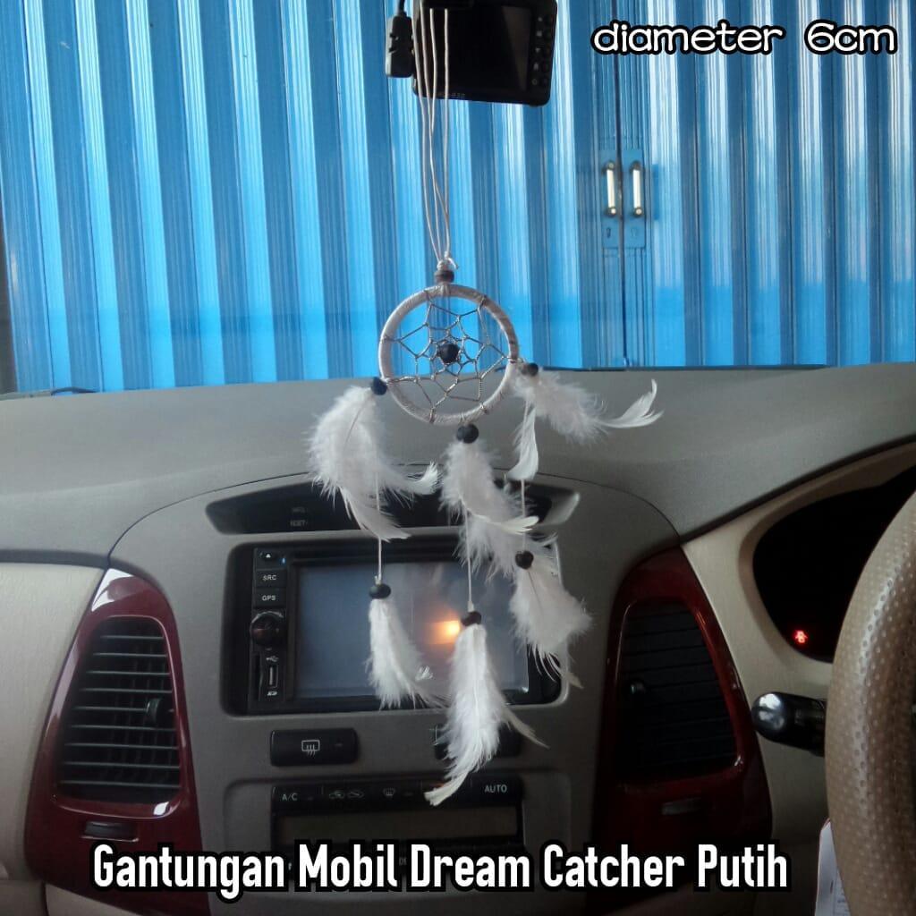 Gantungan Spion Mobil Dream Catcher Putih