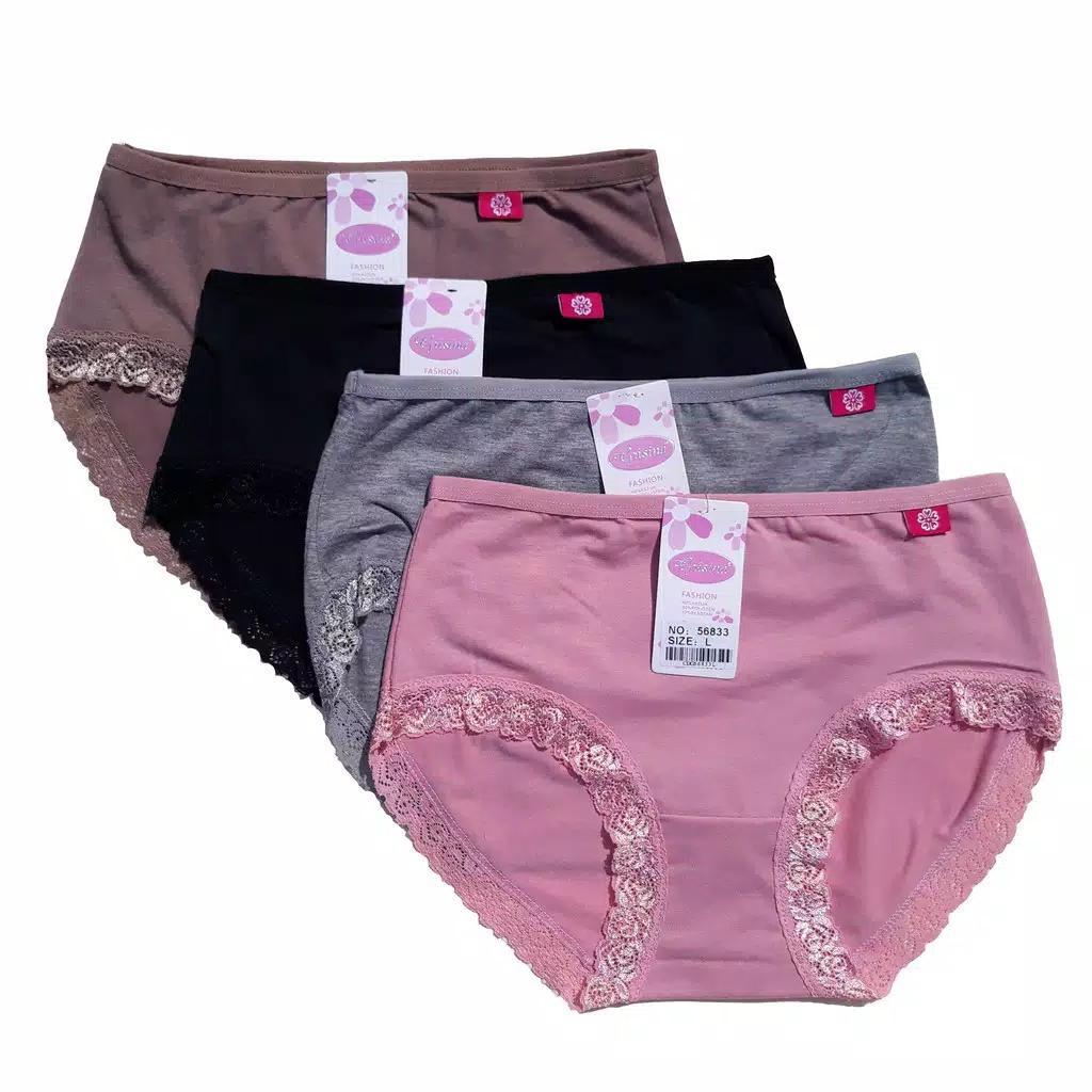 6 Pcs Celana Dalam Wanita Renda Katun (L bafa0fa09c