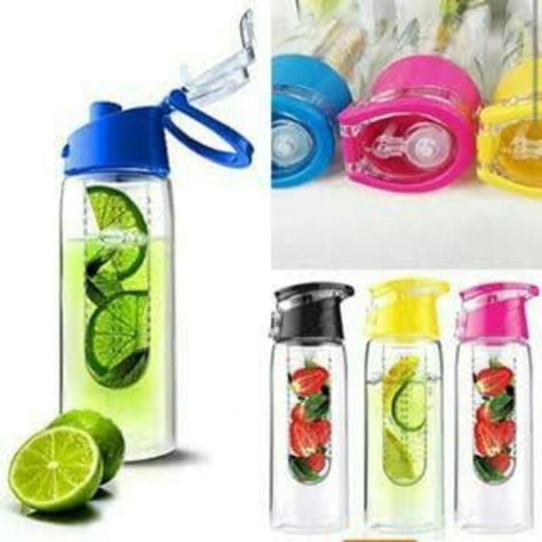 Kado Unik-- Botol Tritan Gen 2 / 2nd Generation / Botol Minum Buah / Botol Minum Infused Water / Infused Bottle / Fruit Juice Bottle Infused BPA Free / Botol Tritan Generasi 2 Murah