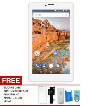 "Beli sekarang Evercoss R70 - 7.0"" - 3G - RAM 1GB / ROM 8GB + Free Silicone Case, Tongsis , Powerbank, i-Ring, KP. INET 3 (1GB) terbaik murah - Hanya Rp692. ..."