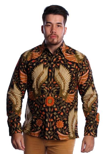 SP408 Kemeja Pria Modern Batik Lengan Panjang Iwan Tirta Garuda Muda Arcobaleno Solo Kebaya dan Batik Premium Sambut HARI BELANJA ONLINE NASIONAL 2018, PROMO 1111, PROMO AKHIR TAHUN 2018 dan PROMO TAHUN BARU 2019 harga murah Grosir dan Eceran