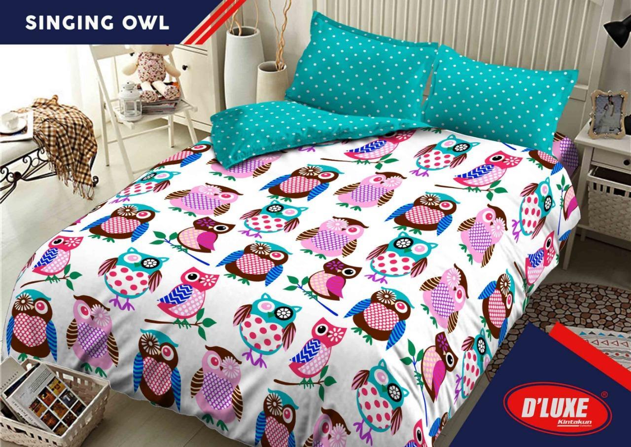Sprei Bed Cover Kintakun Terbaru Dluxe 160 X 200 B2 Queen Kingdom Of Pony Kids Edition Uk 180x200 Singing Owl