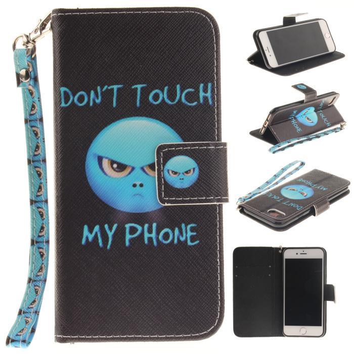 Plus Sarung Kulit Iphone7 Lukisan Kucing Apple Identitas Mengejar Luar Iphone7 Kulit Kerang Anti Jatuh