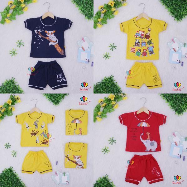 Promo Celana Pendek Setelan Bayi Satria Uk. 3 - 12 Month- Grosir 26 Ribu Min 3 Pc- Premium Quality
