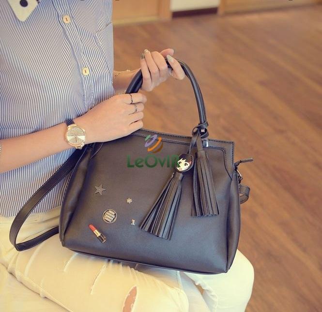 Tas Branded Wanita - Top-Handle Bags - PU Leather - 89044