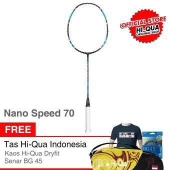 Harga Preferensial Hi Qua Raket Bulutangkis Nano Speed 70 Free Senar BG45 Tas Kaos Beli Sekarang