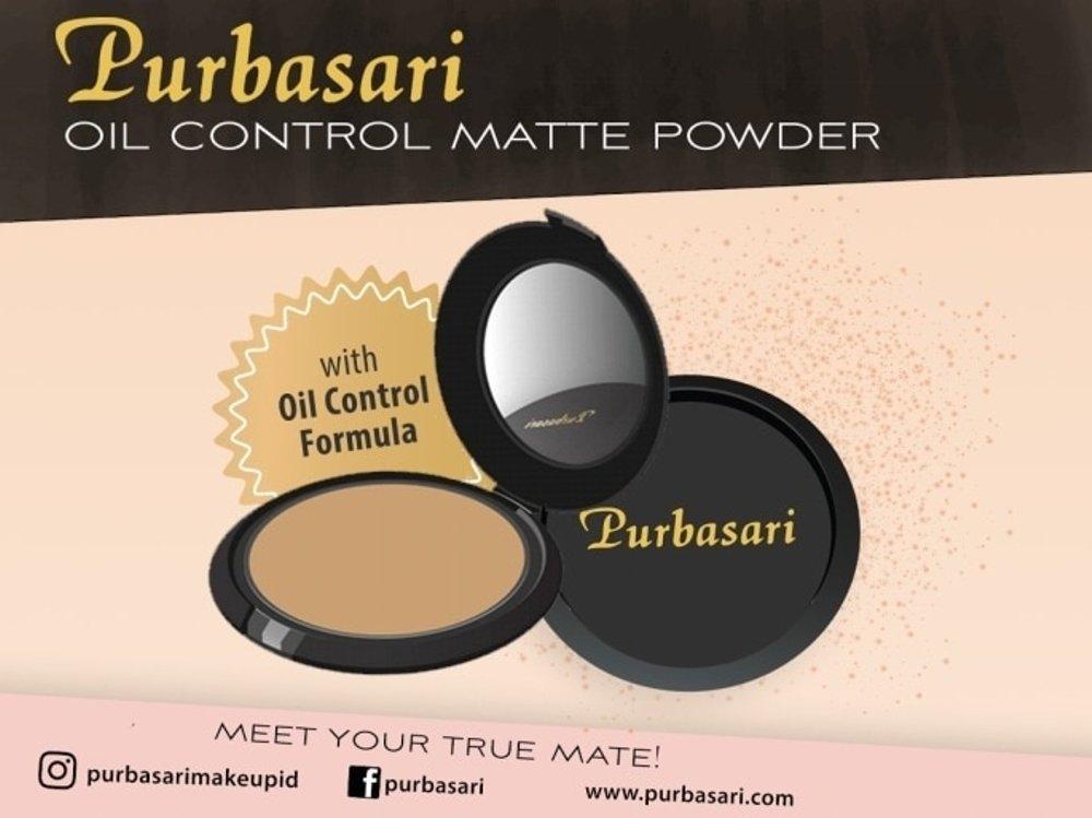 Purbasari Oil Control Matte Powder (Bedak Padat untuk Kulit Berminyak) NATURAL