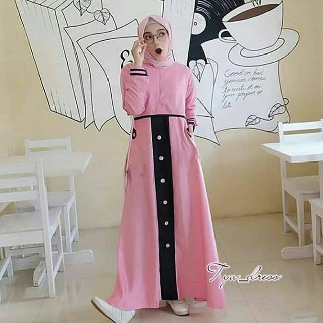 TJK Fashion TYA Dress Baju Gamis Gamis Casual - TIA Dress