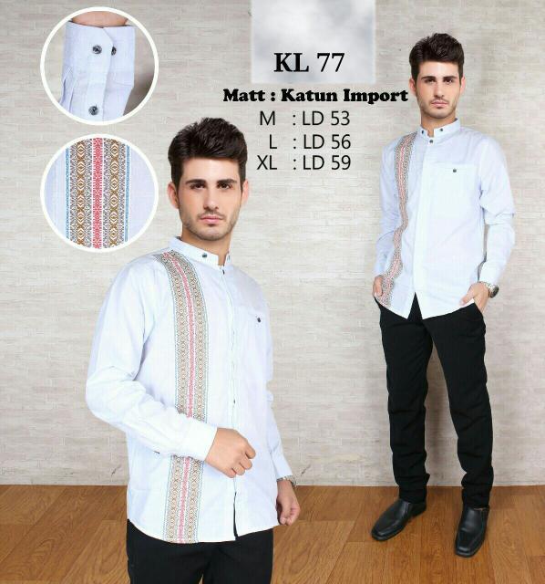 DISKON Baju koko fashion, pakaian muslim pria KL 77 TERMURAH