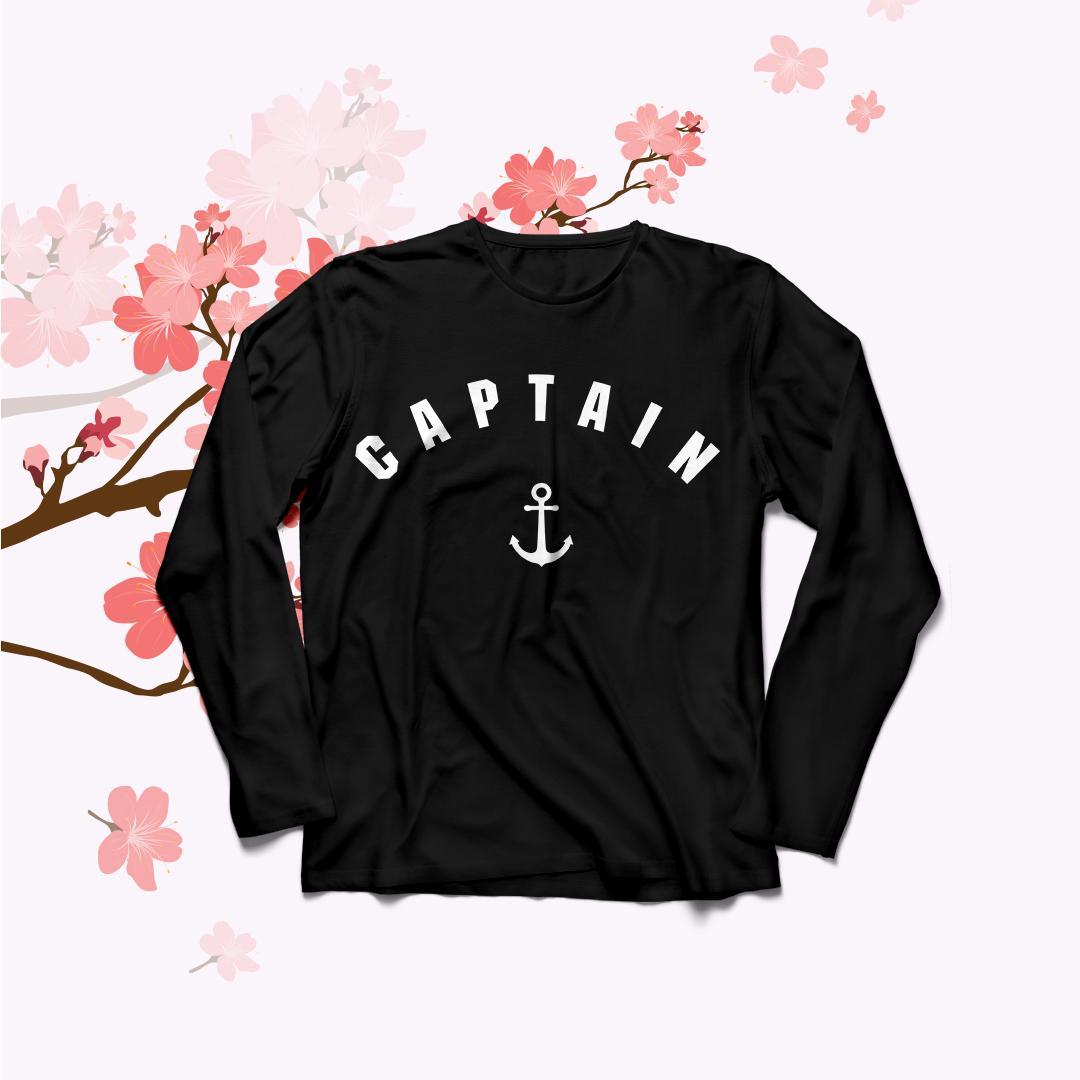 POLARISSHIRT – Baju Kaos T-shirt CAPTAIN Big Size Ukuran XL Tumblr Tee / Kaos