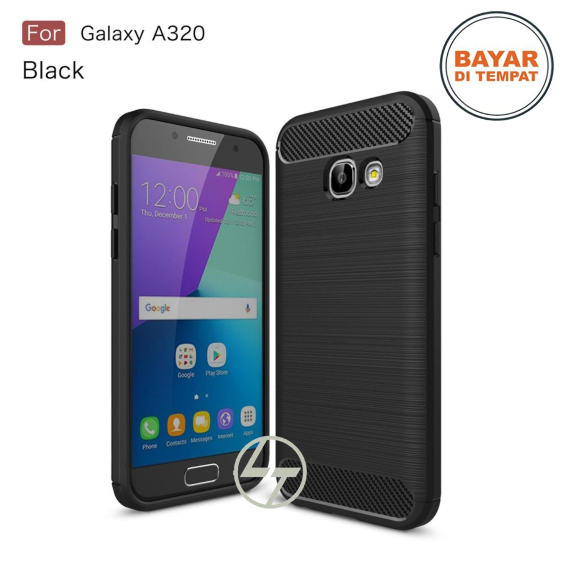 Lapak Case Carbon Fiber Premium Quality Shockproof TPU For Samsung Galaxy A320 2017