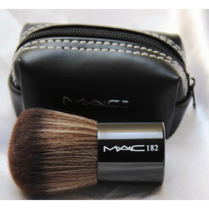 KUAS KABUKI MAC 182 Brush - KABUKI MAC DOMPET KUAS KOIN Make Up Kit