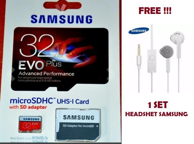 Samsung Memory Card microSDHC Evo Plus 32GB / 95MB/s Free Headshet SAMSUNG- Megameshop