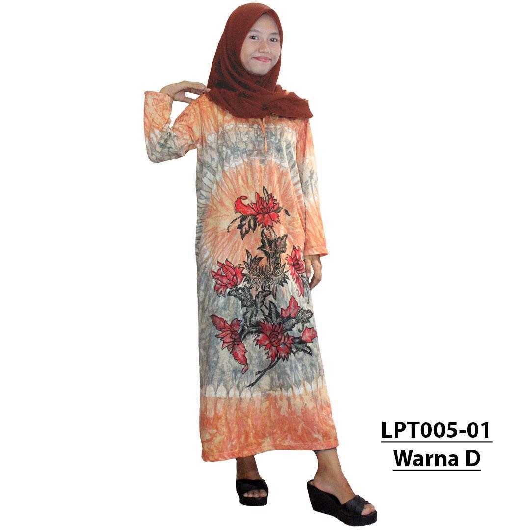 Longdres Batik, Daster Lengan Panjang Batik, Leher Tali (LPT005-01) Batik