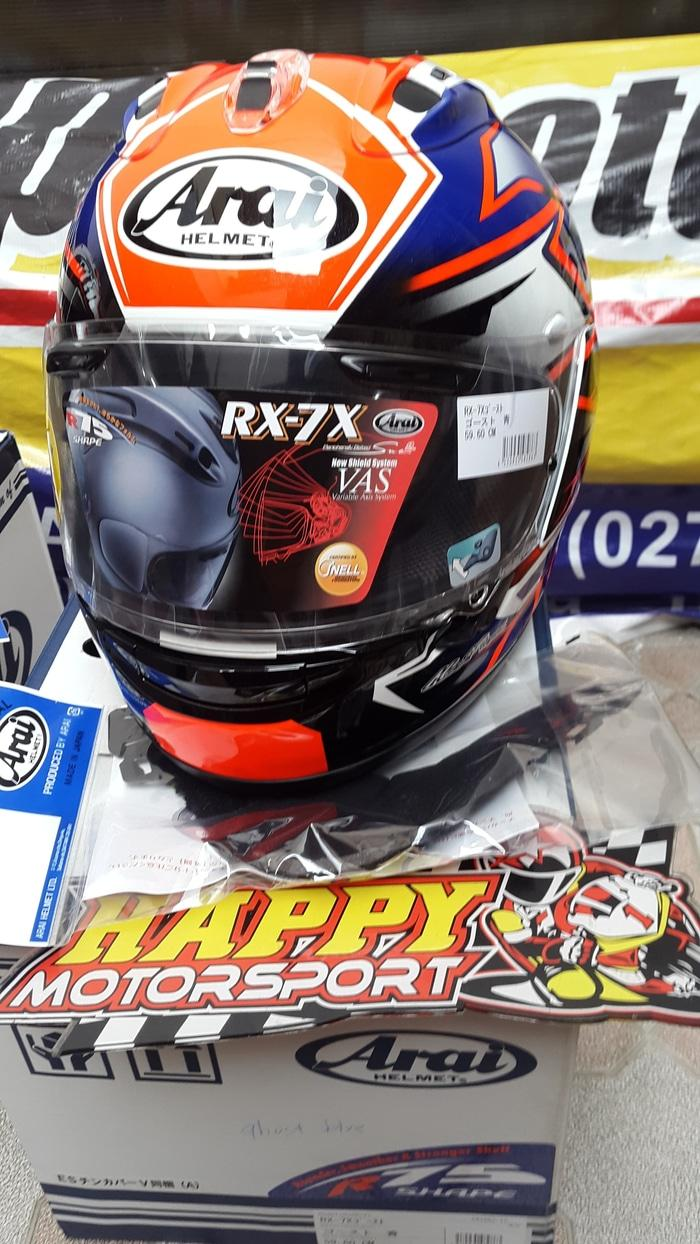 Helm ARAI FUll Full Face RX-7X Ghoes Blue Red Made in