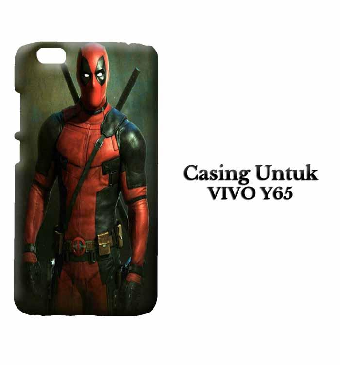 Casing Vivo Y65 deadpool iphone wallpaper Custom Hard Case Cover