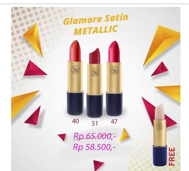 Viva Glamore Satin METALIC ( Lipstick 40 Red Coopers , Lipstick 51 Red Orange Wines Metallic