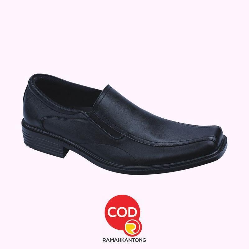 Sepatu Casual Formal Murah Kulit Asli Kantoran Kerja Pria Pantopel - Hitam Catenzo MR 104-