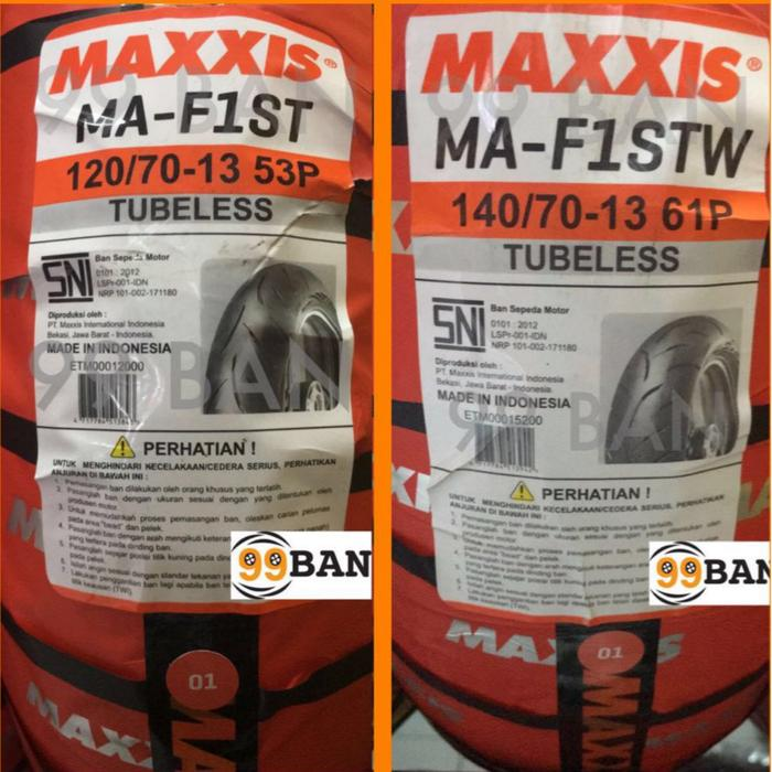 High Quality MAXXIS MA F1 SEPASANG 120 70 13 140