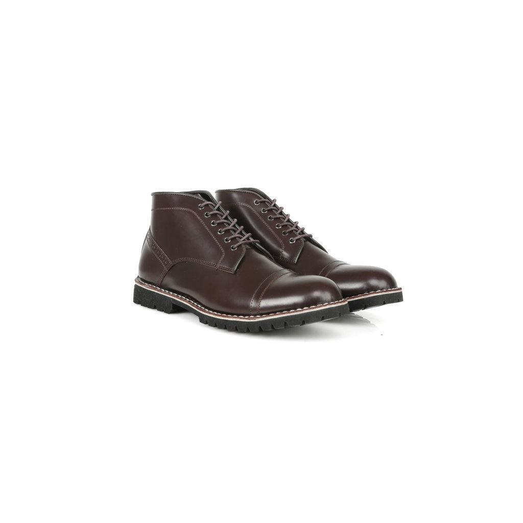 Sepatu Boots Kulit Asli - Vigos Dexter Oxblood