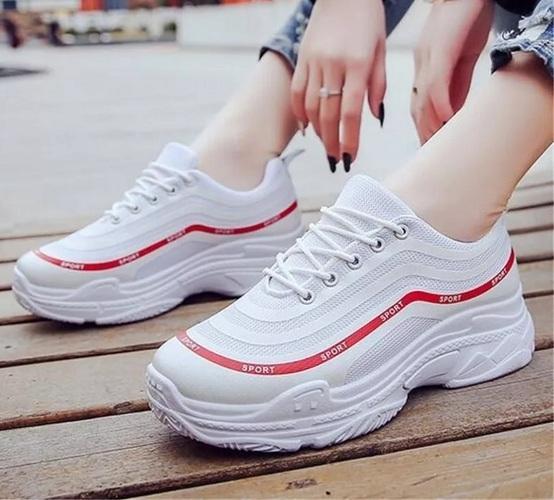 azkashoes Sepatu Wanita Sneaker Sporty Putih