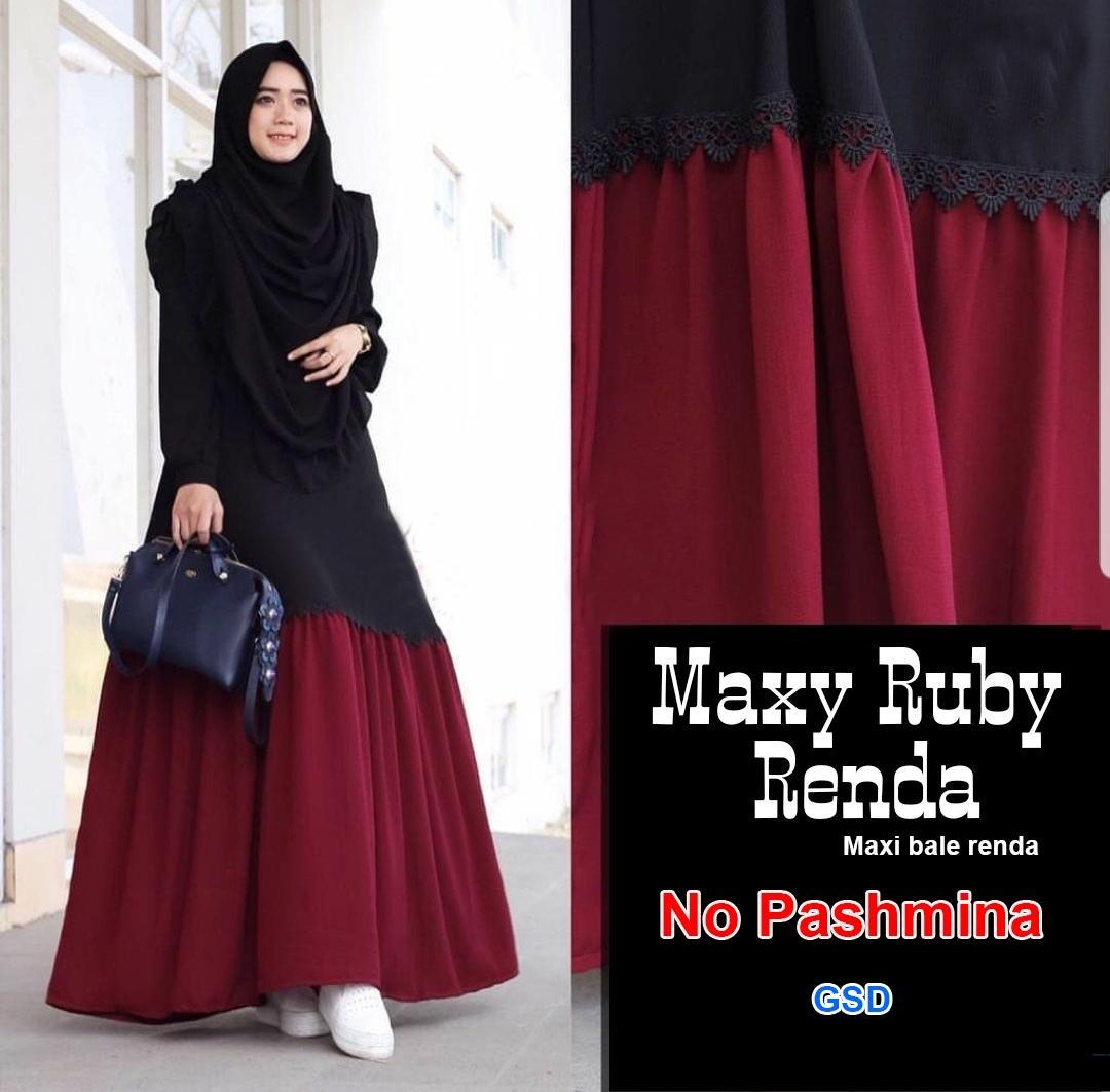 GSD - Baju Wanita Muslim / Baju Gamis / Baju Kurung / Baju Muslimah / Maxi Dress Bale Renda