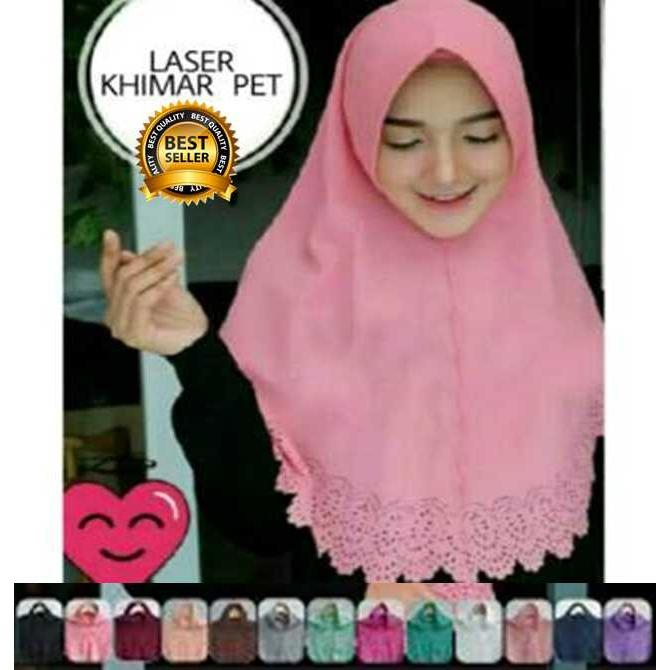 Premium Jilbab Kerudung Instant Syari (Jilbab Syar'i) Hijab Instan Khimar Laser Pet Toko Berkah Online