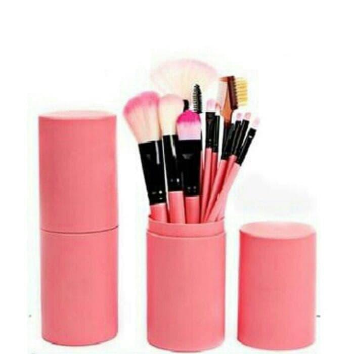 Kuas Tabung Make Up Brush 12 Set / Make Up Brush in Tube 12 PCS