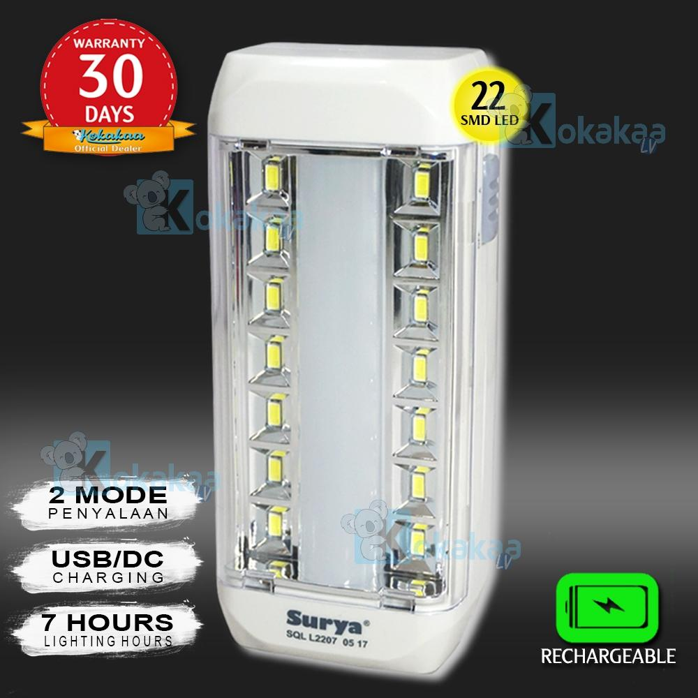 Lampu Rechargeable Senter Buy 1 Get Free Usb Bohlam Led 5 Watt Emergency Surya Sql L2207x Light 22 Smd Super Terang