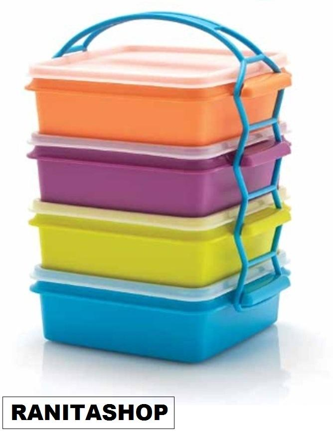 Tupperware Carry All Set - Rantang 4 susun  warna warni - Toko RANITASHOP