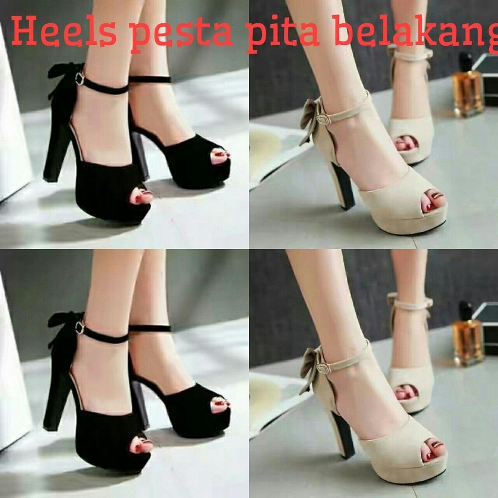 Sandal HEELS / Sandal Tinggi / Sandal Tali-Tali / Pita Belakang