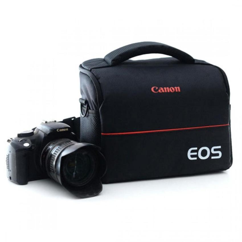 EOS Tas Selempang Kamera DSLR for Canon Nikon Camera Bag s5371 - Black