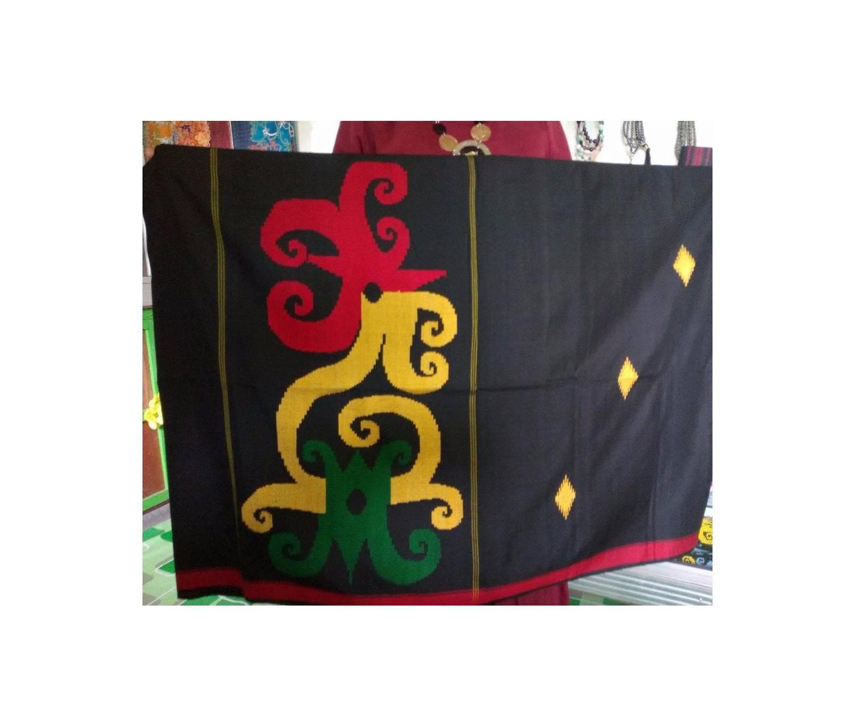 Sarung Tenun Asli Samarinda Motif Dayak Tribal BEST MODEL