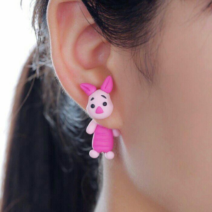 Anting Piglet Disney Handmade Clay