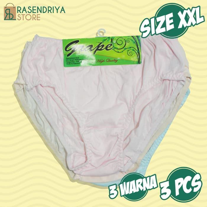 Celana Dalam Wanita 3Pcs Basic Midi   Cd Panty Polos Murah   Midi - ready stock