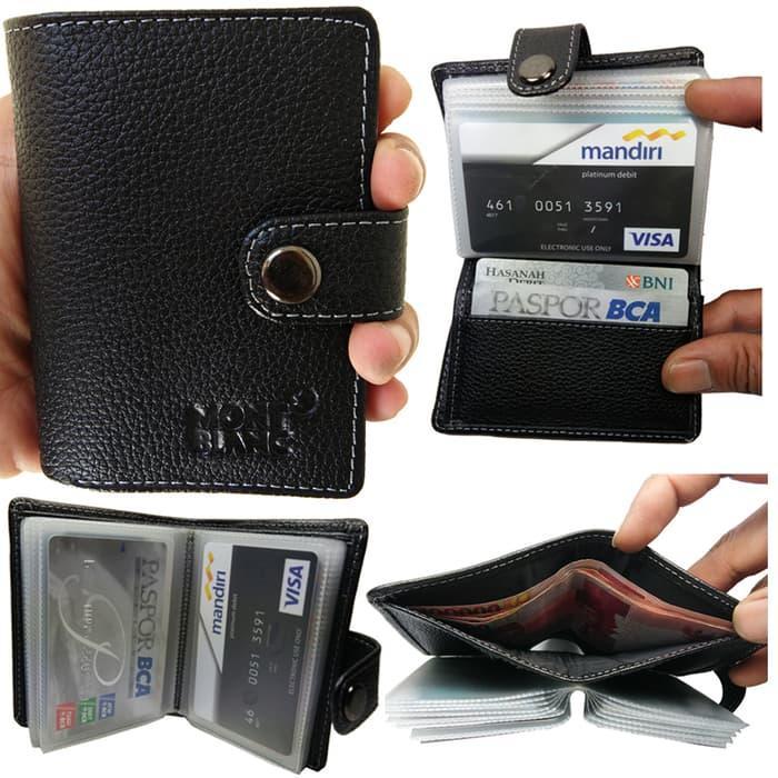 Dompet Kartu Kredit / Dompet ATM Multifungsi Bahan Kulit Sapi ASLI