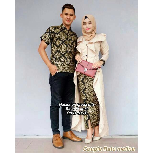 TERMURAH! Baju Batik Couple / Baju Muslim Wanita Terbaru 2018 / Gamis Wanita Terbaru / Batik Sarimbit / Baju Batik Kondangan / Hem Batik / Batik Pekalongan / Batik Murah / Batik Couple Murah / Setelan Batik Couple  - Ratu Melia