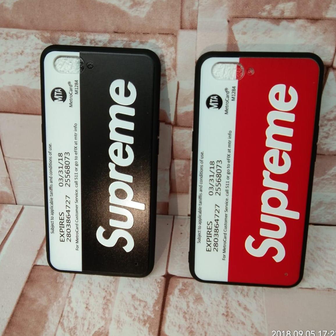 Supreme Softcase Oppo A3S - New York Subway (Oppo Tipe Terbaru)