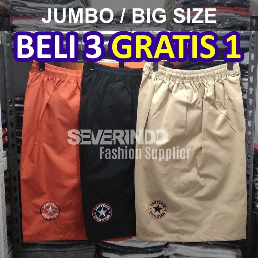 Buy Sell Cheapest Celana Big Pendek Best Quality Product Deals Kolor Santai Polos Super Size Jumbo Hawaii Harian