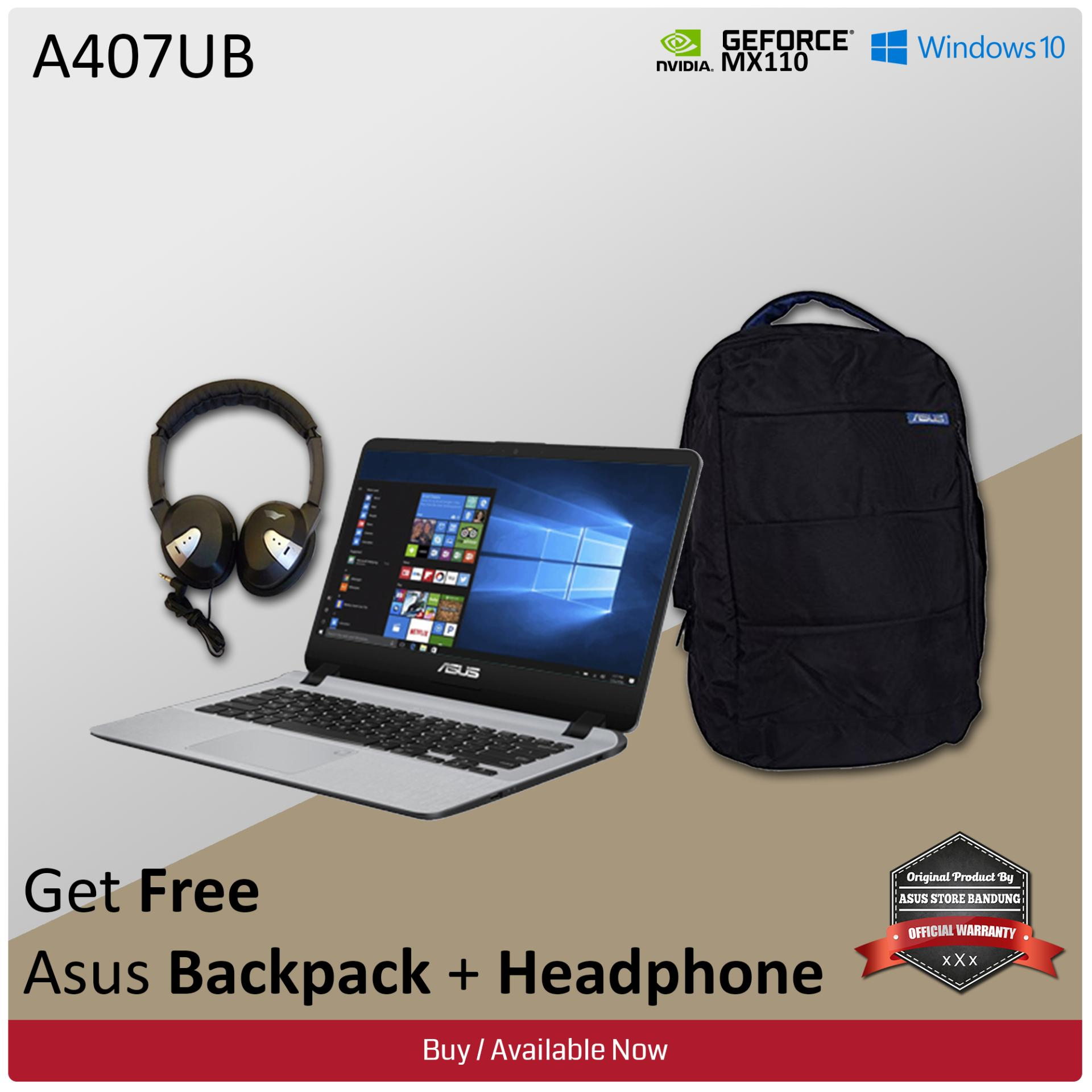 Asus Notebook A407UB-BV070T Intel Core i3-6006U + Nvidia Geforce MX110 2GB GDDR5 4GB RAM 1TB HDD Windows 10 + Free