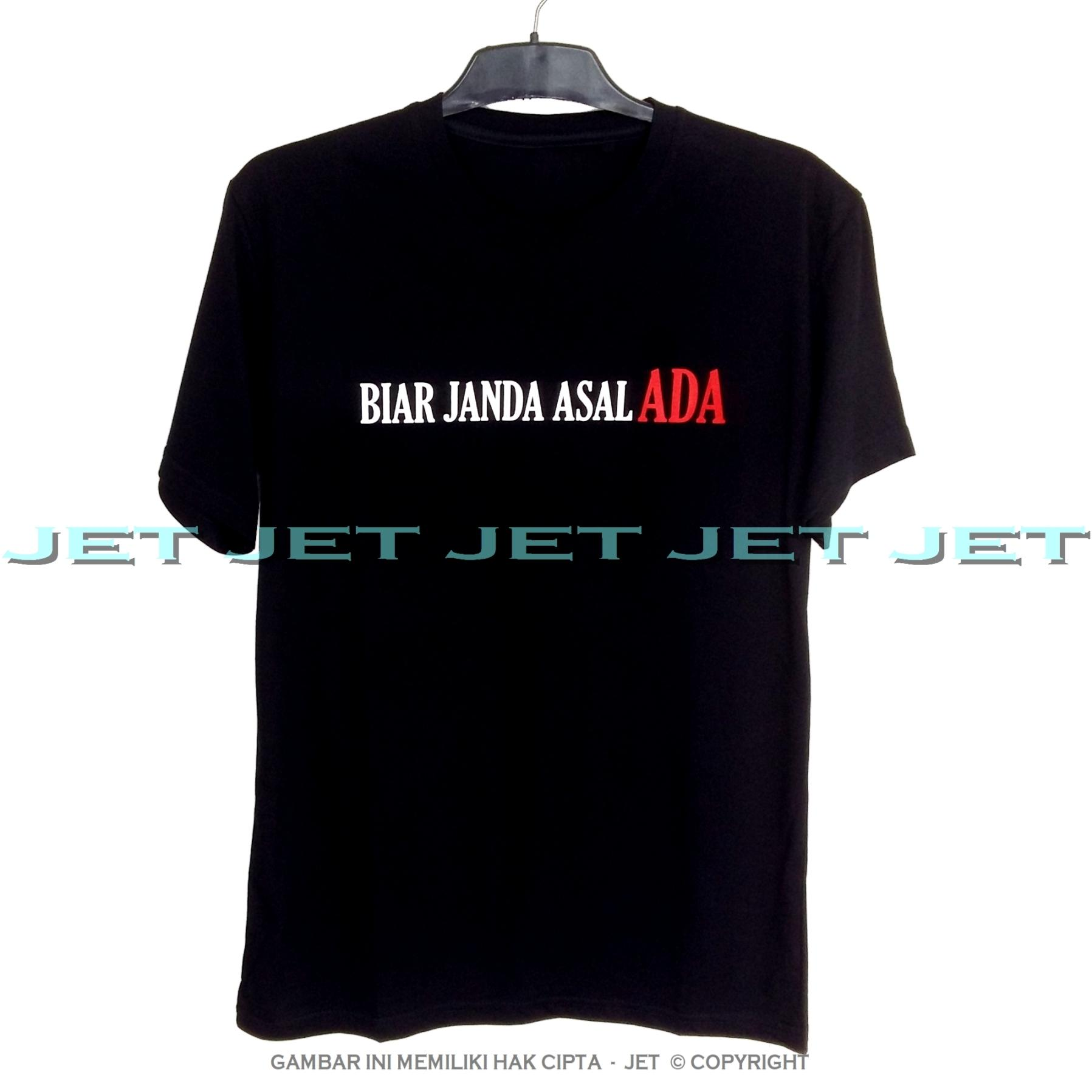 JeT - Black T-Shirt Premium Cotton Combed Janda