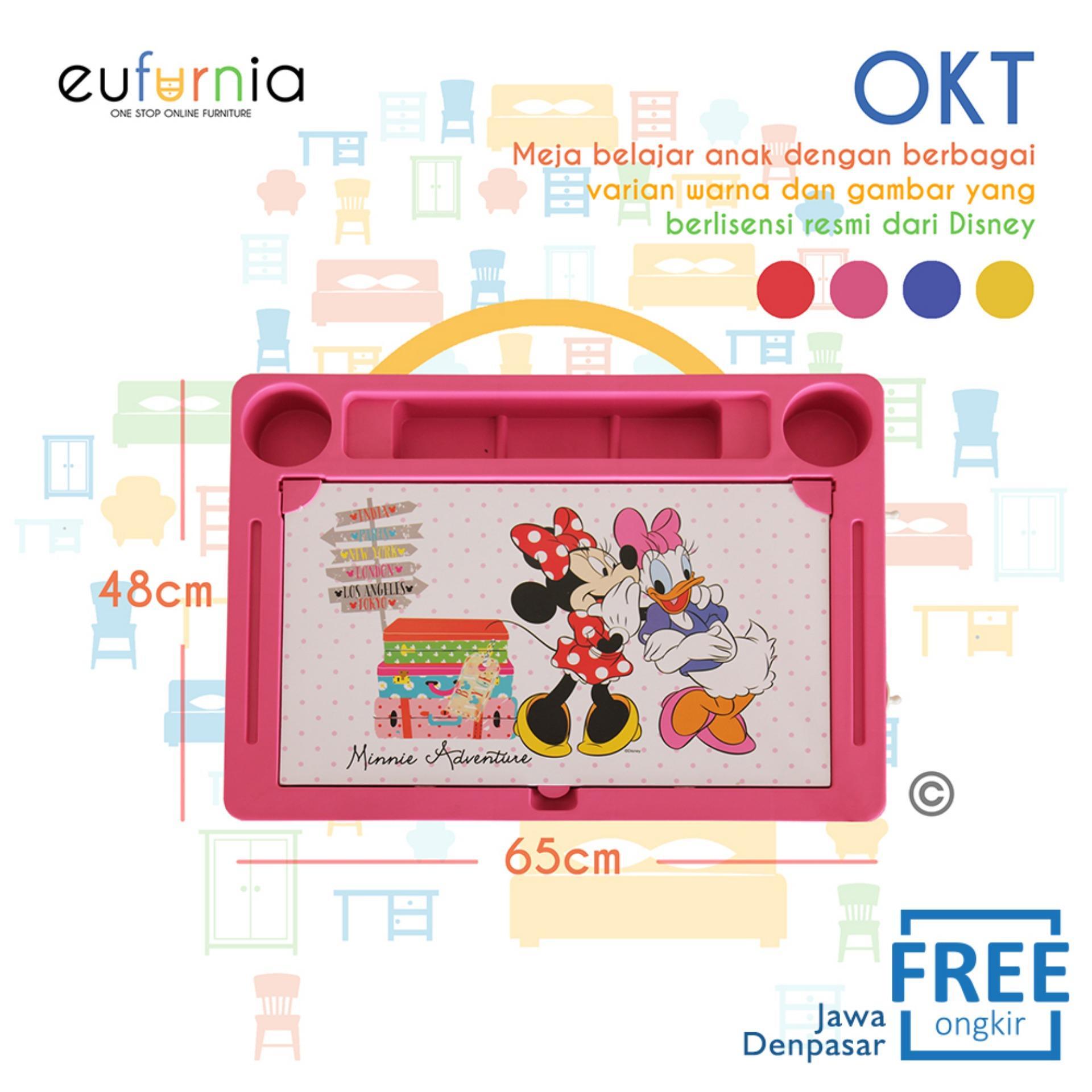 Meja Anak Karakter Eufurnia Olymplast Kids Table  OKT / Pink / 100% FREE ONGKIR JAWA DENPASAR