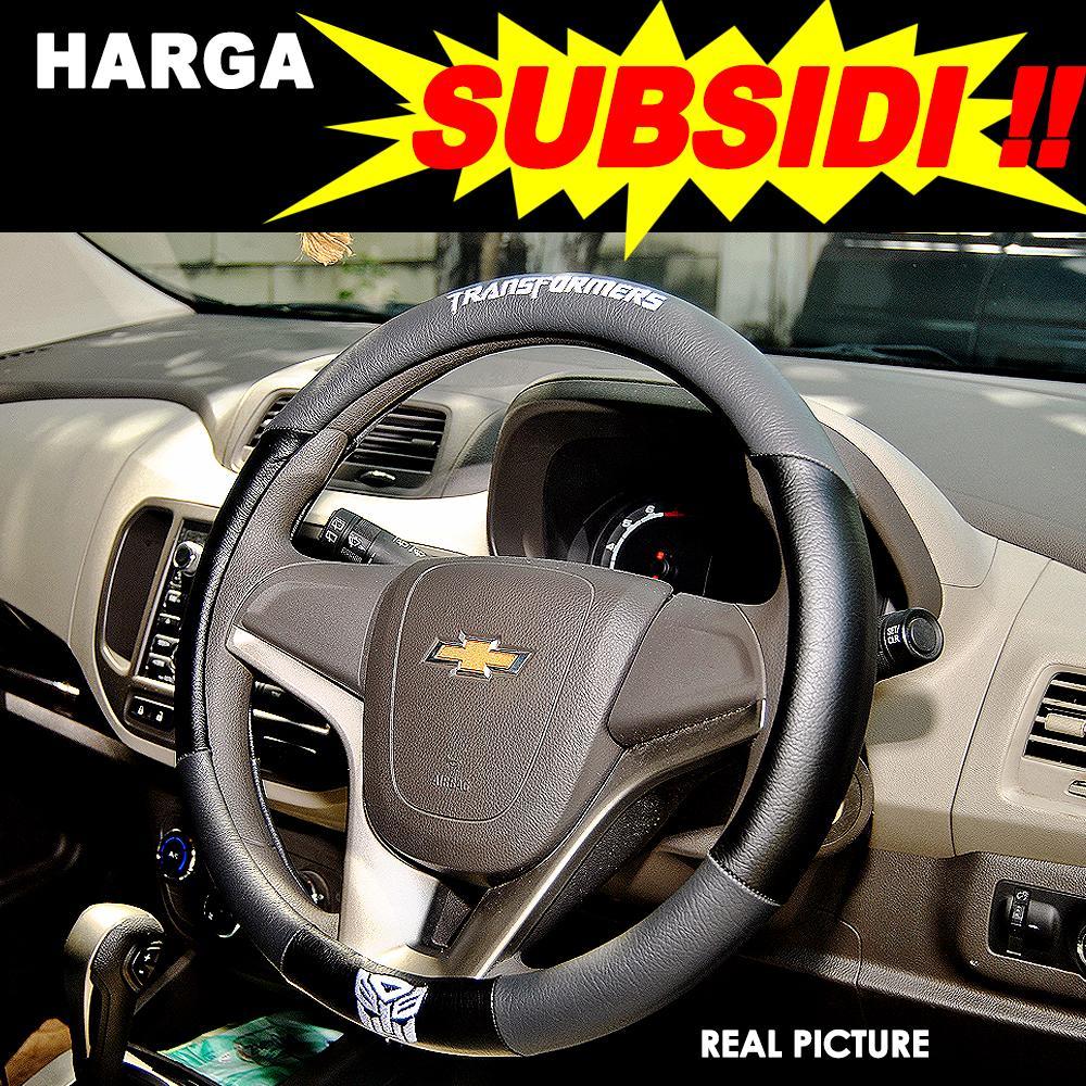 AUTORACE Cover Stir / Sarung Setir Mobil Universal Bordir Keren Awet Ar 14 Transformer - Gray