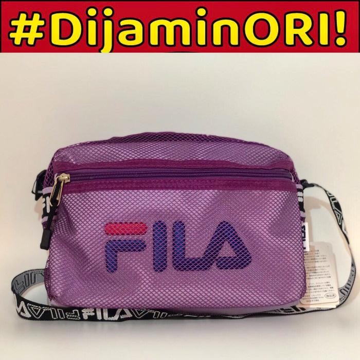 FILA MESH SHOULDER BAG PURPLE ORIGINAL - lxInza