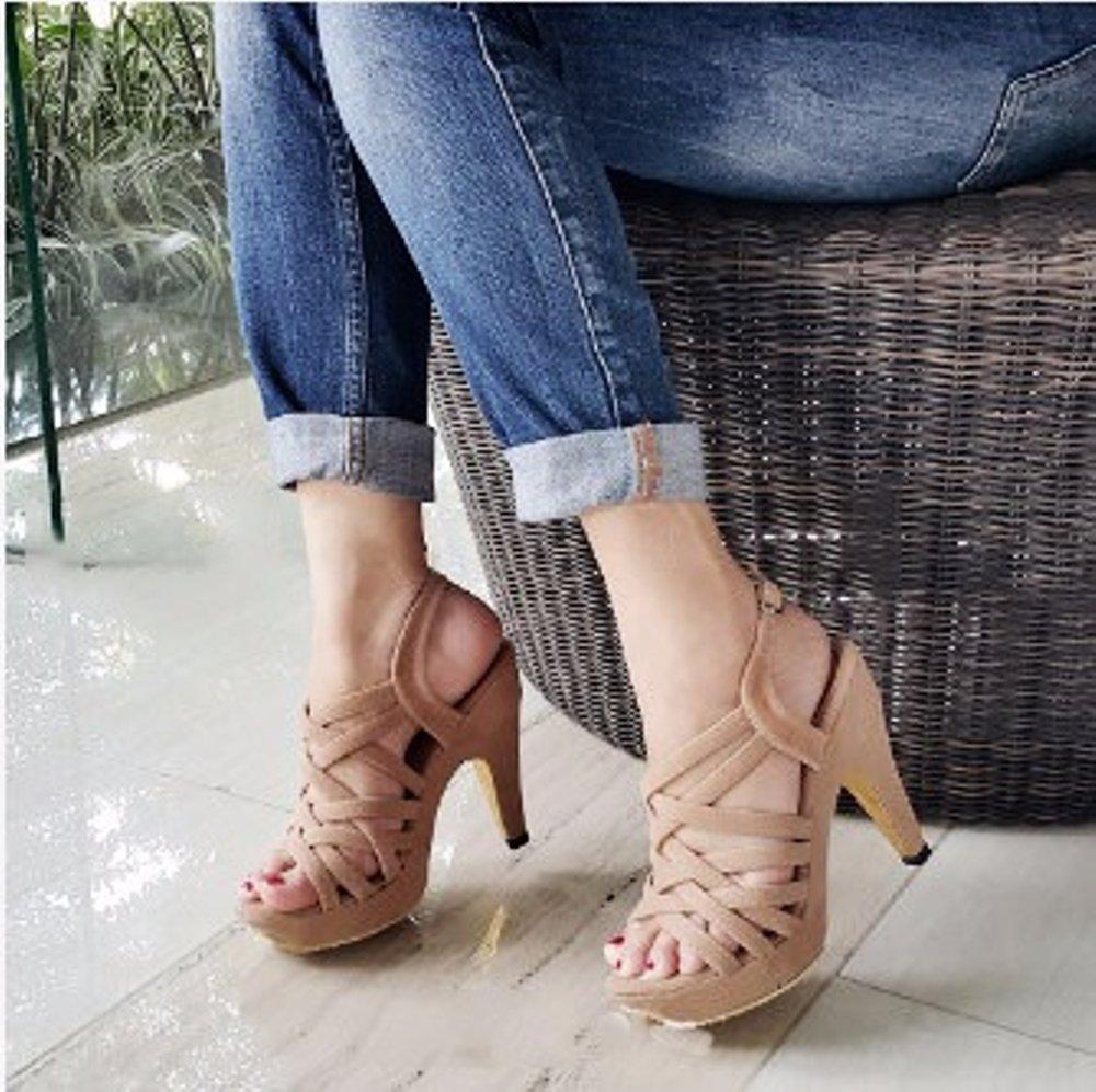 Buy Sell Cheapest Azkashoes Wedges Moca Best Quality Product Deals Sepatu Wanita Tali Sandal High Heels Sh01