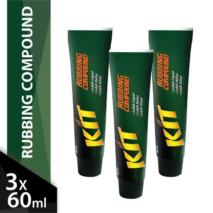[triple Pack] Kit Rubbing Compound 60gr X 3pcs By Kosmetik Mazaya Indonesia.
