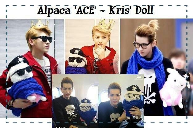Alpaca Ace Kris EXO Doll (plus kacamata)