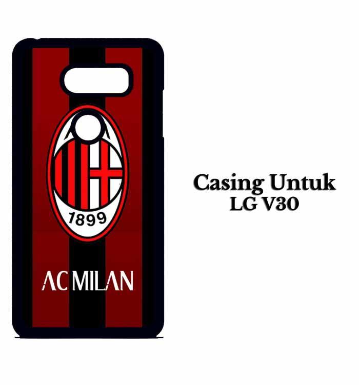Casing LG V30 ac milan ac Custom Hard Case Cover