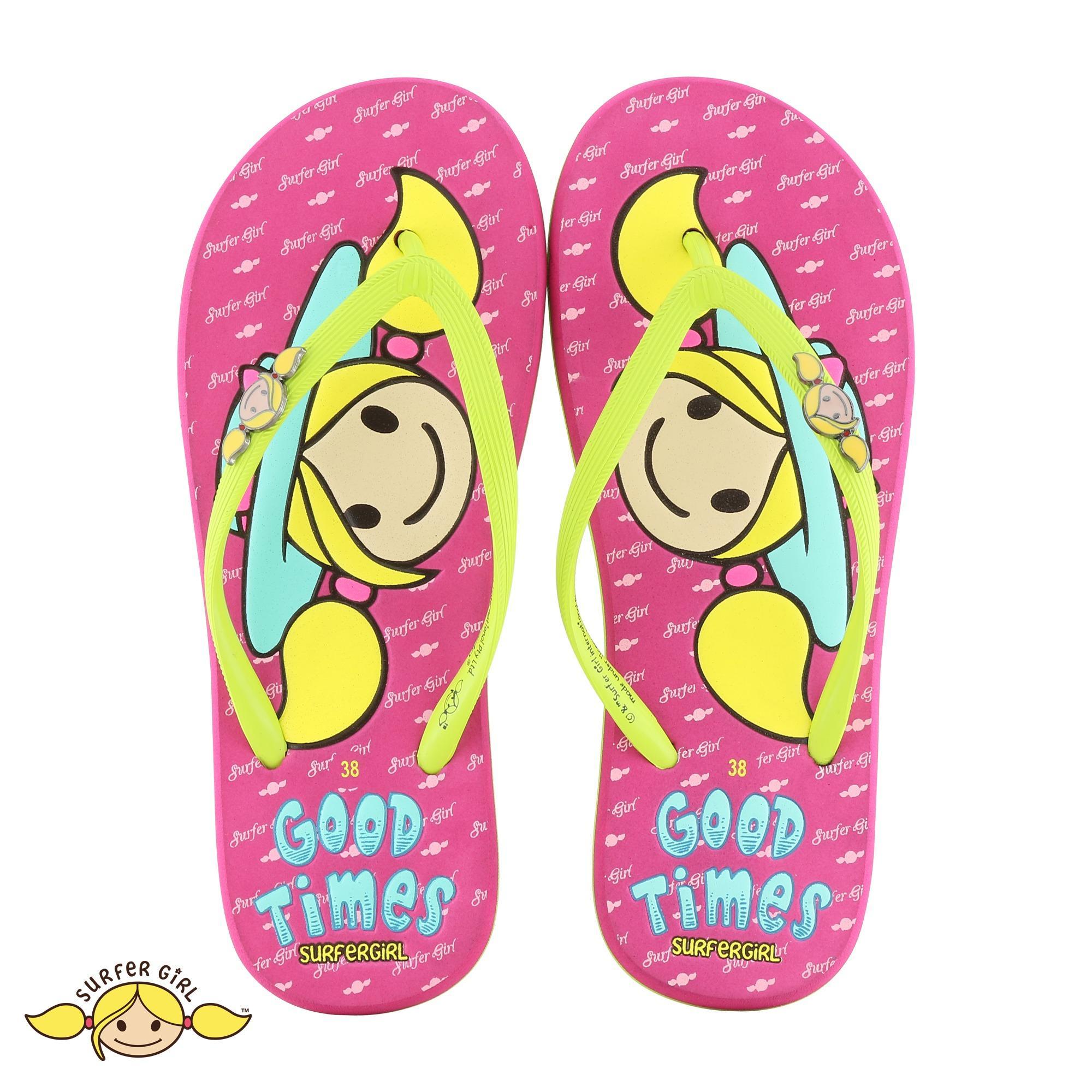 5524fe40b6d5 Sandal Flip Flop Surfer Girl Limited Edition SGL 481  Lime-Fusia