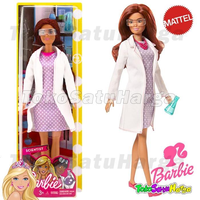 TSH Mainan Anak Perempuan Boneka Barbie® Career Profesi Scientist Peneliti Original Mattel